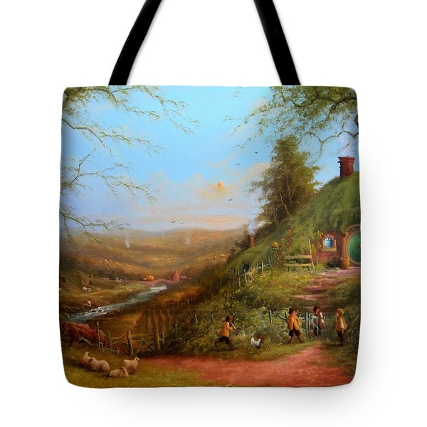 Gossip At The Gate Tote Bag