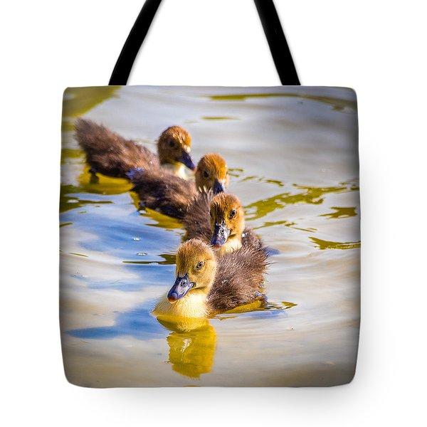 Got My Ducks In A Row Tote Bag