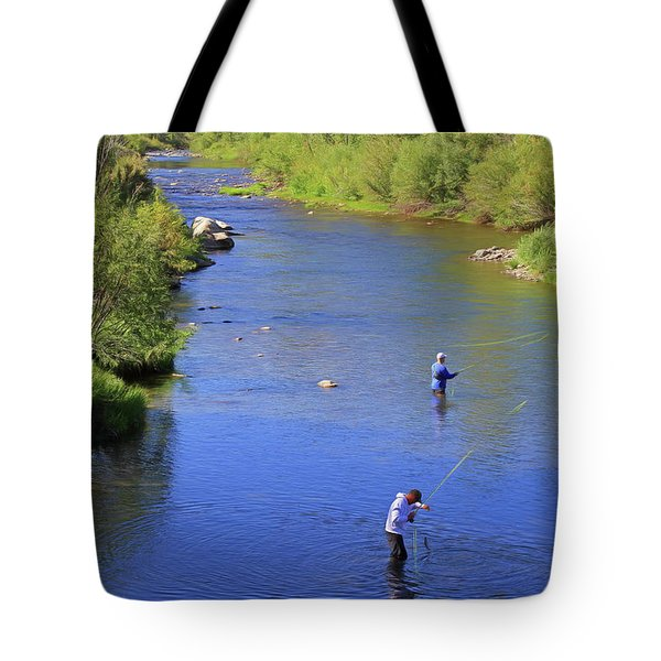 Tote Bag featuring the photograph Got One  by Donna Kennedy