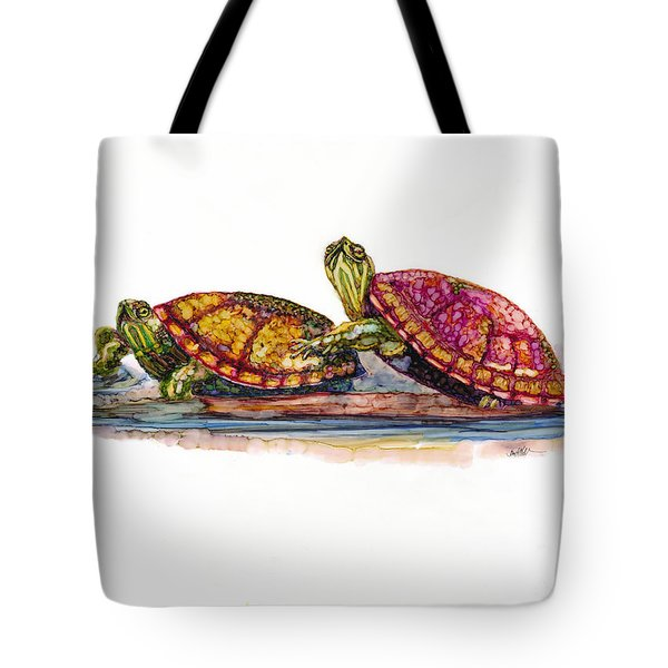 Spring Turtles Tote Bag