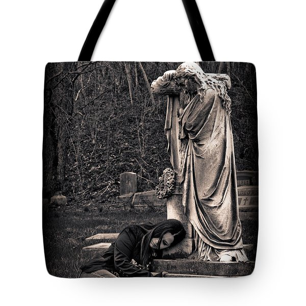 Goth At Heart - 3 Of 4 Tote Bag by Scott Wyatt