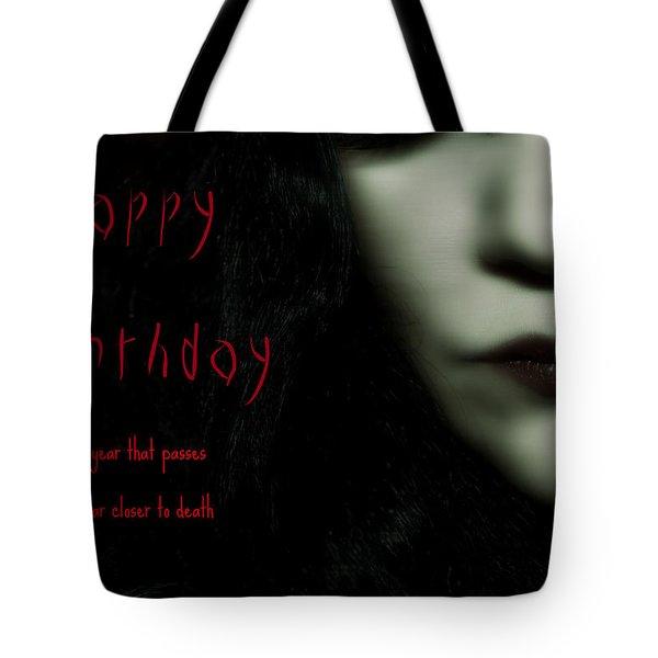 Goth Birthday Card Tote Bag by Lisa Knechtel
