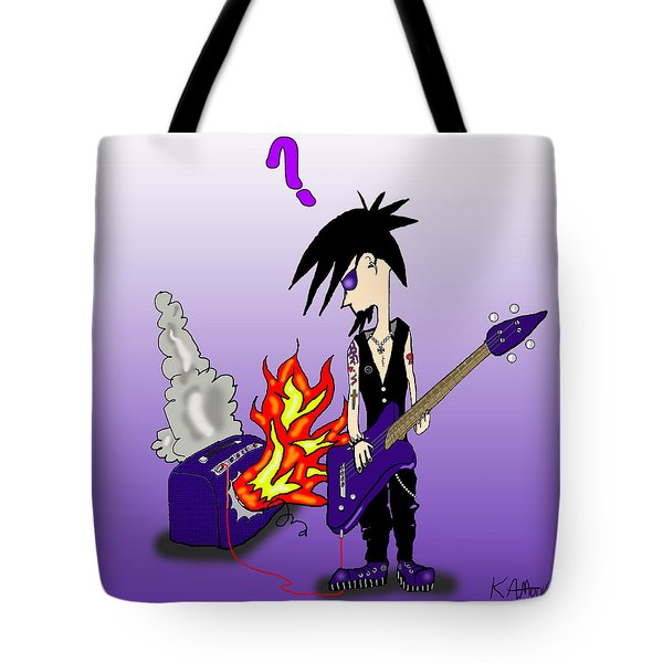 Goth To A Flame Tote Bag
