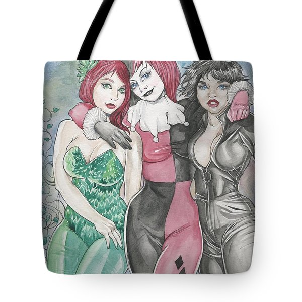 Gotham City Sirens Tote Bag