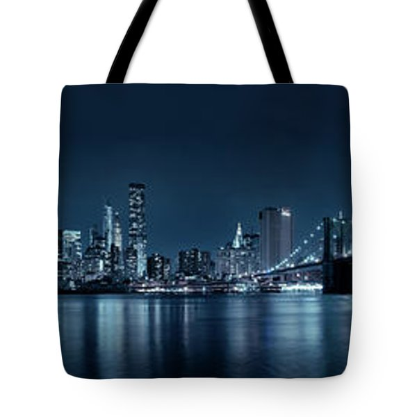 Gotham City Skyline Tote Bag by Sebastien Coursol