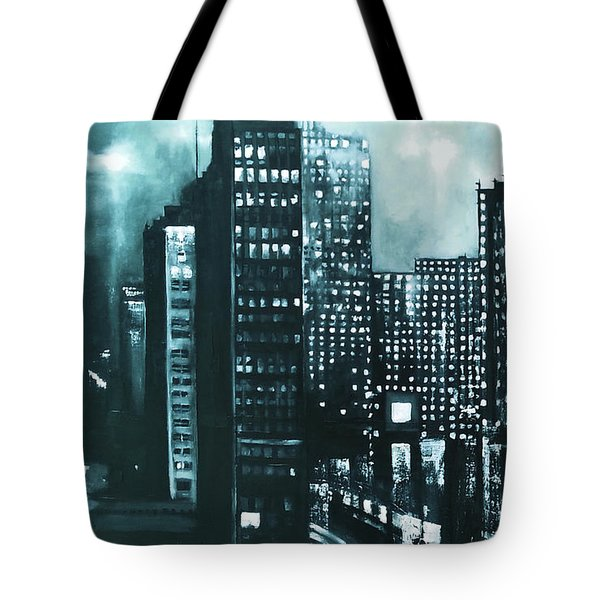Gotham Painting Tote Bag