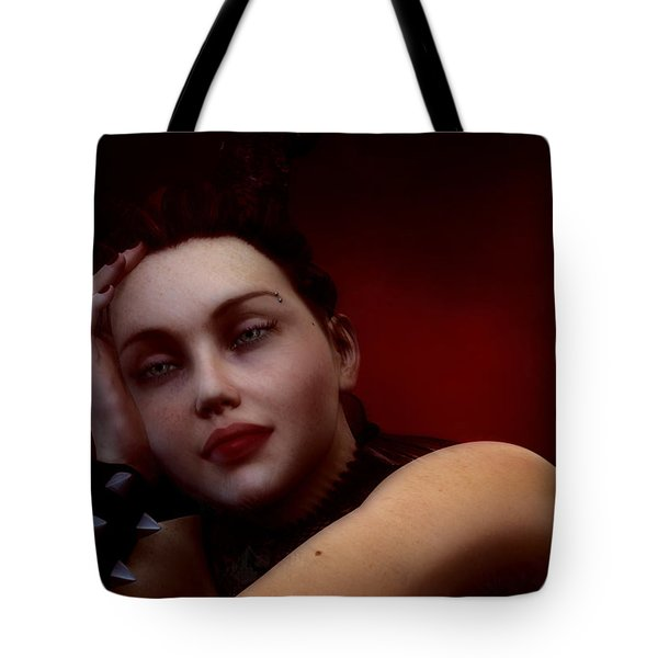 Gothic Angel Portrait Tote Bag by Maynard Ellis