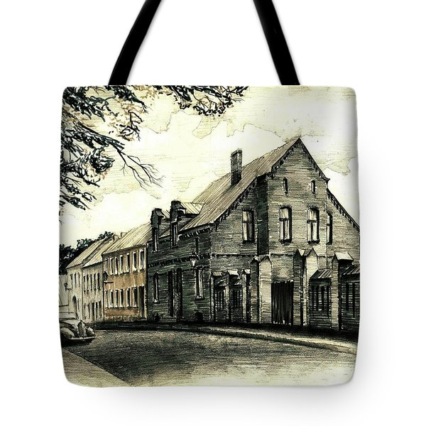 Gothic City Street  Tote Bag