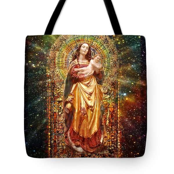 Gothic Madonna And The Child Tote Bag