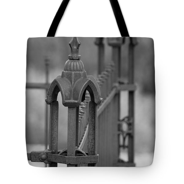 Gothic Ornamental Fence In Boothill Tote Bag