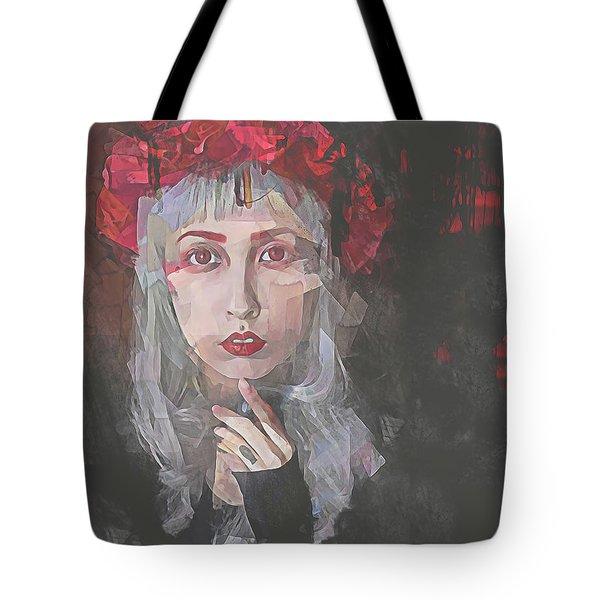 Gothic Petal Tote Bag