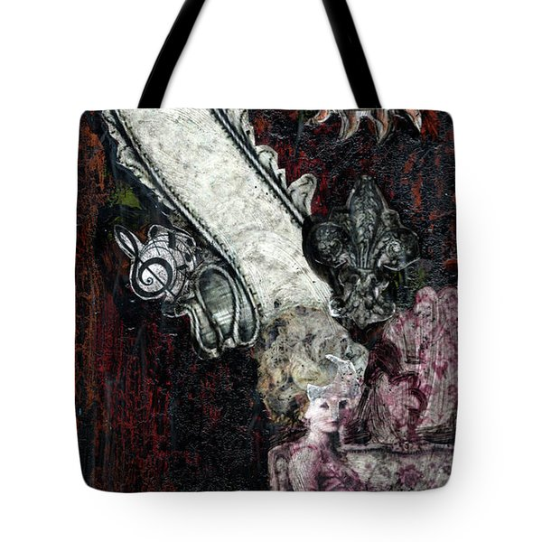 Tote Bag featuring the mixed media Gothic Punk Goddess by Genevieve Esson