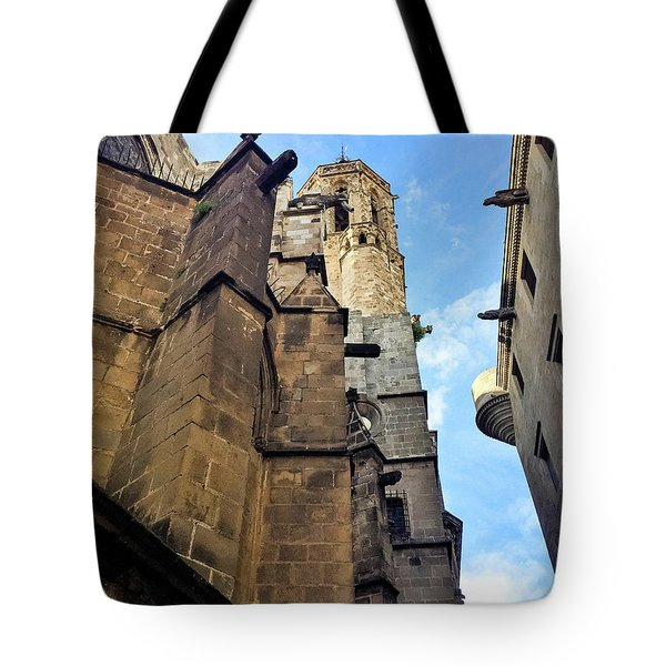 Gothic Quarter Stone Buildings  Tote Bag