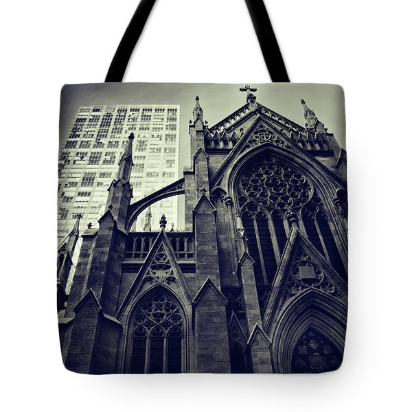 Tote Bag featuring the photograph Gothic Perspectives by Jessica Jenney