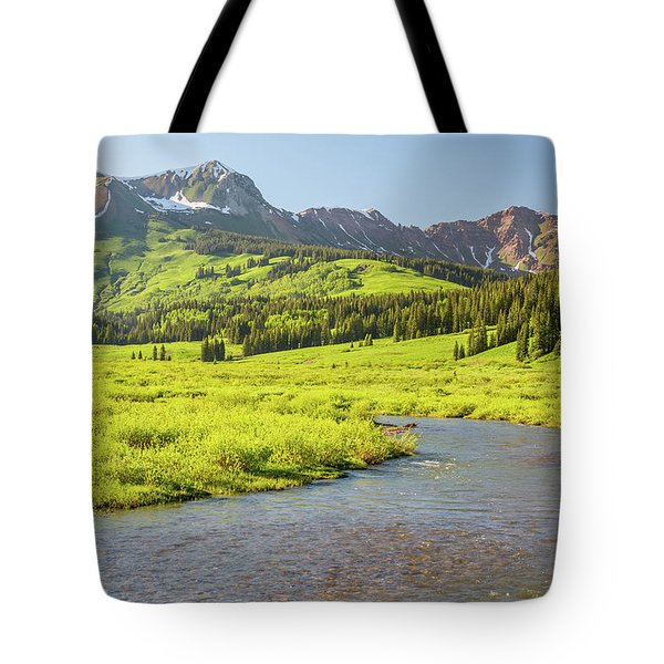 Tote Bag featuring the photograph Gothic Valley - Early Evening by Eric Glaser