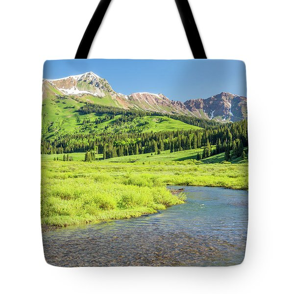 Tote Bag featuring the photograph Gothic Valley - Morning by Eric Glaser