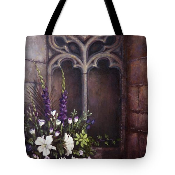 Gothic Wedding Bouquet Tote Bag by Sean Conlon