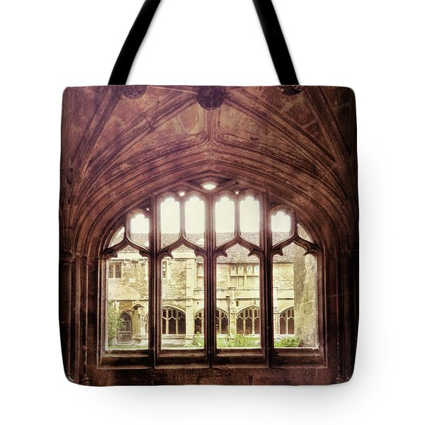 Tote Bag featuring the photograph Gothic Window by Jill Battaglia