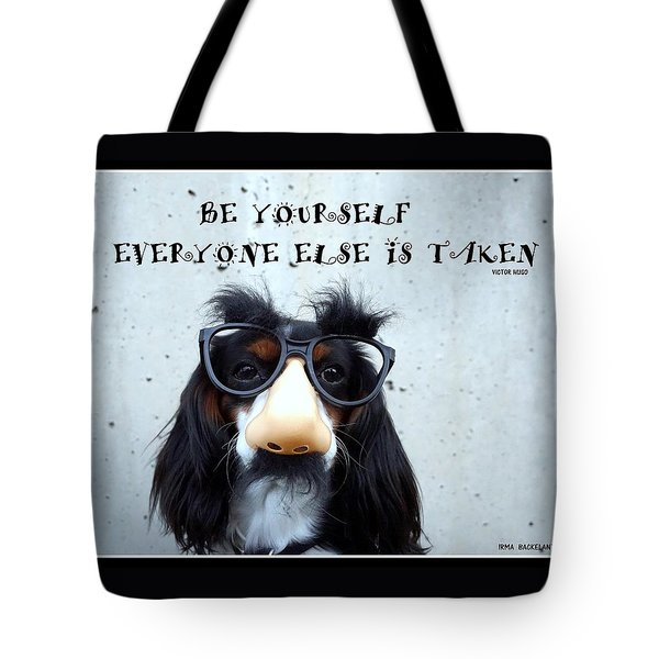 Gotta Love Em Tote Bag by Irma BACKELANT GALLERIES