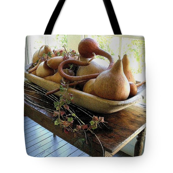Gourds In Bowl Tote Bag