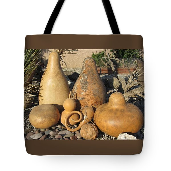 Gourds In The Sun Tote Bag by Barbara Prestridge