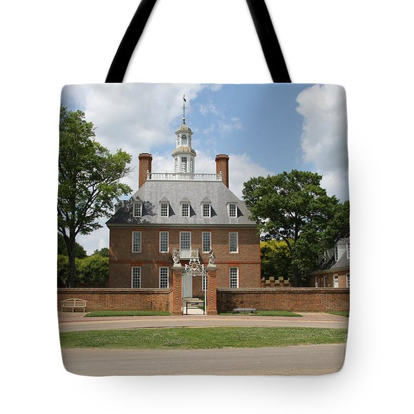 Governers Palace - Williamsburg Va Tote Bag by Christiane Schulze Art And Photography