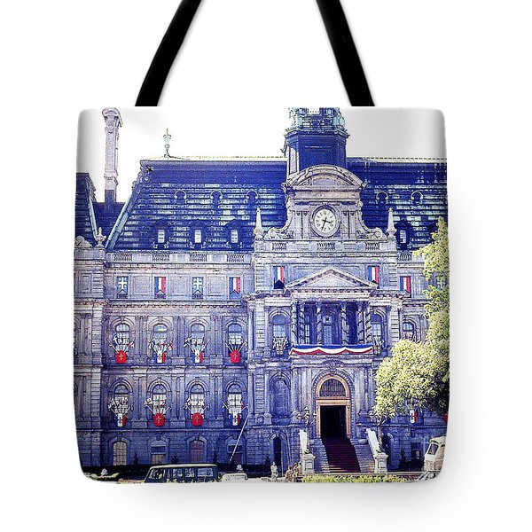 Tote Bag featuring the photograph Government Building - Montreal Canada by Merton Allen