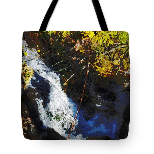 Tote Bag featuring the digital art Governor Dodge State Park by David Blank
