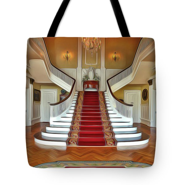 Tote Bag featuring the painting Governor's House by Harry Warrick
