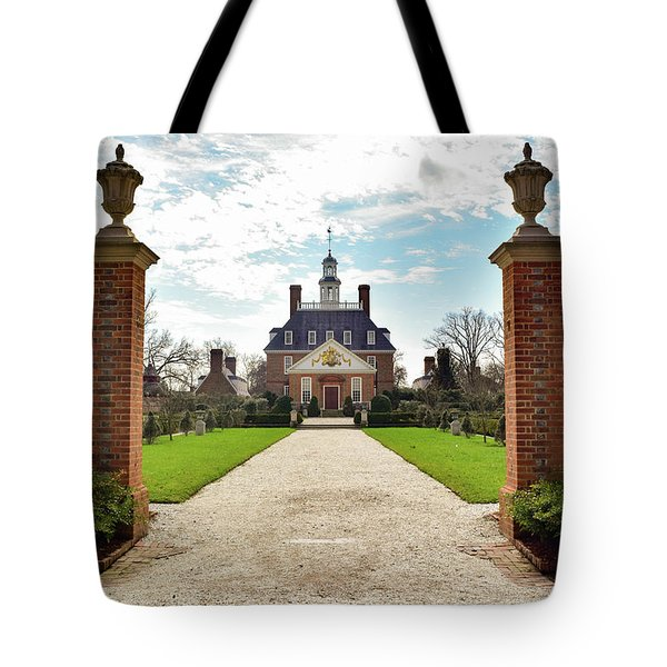 Governor's Palace In Williamsburg, Virginia Tote Bag
