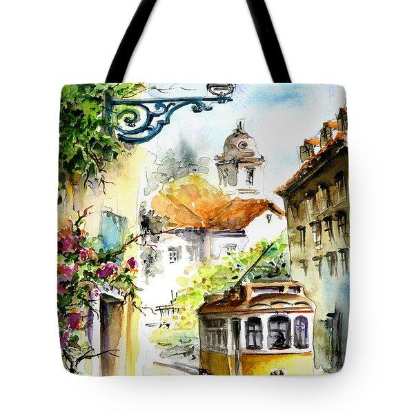 Graca Lisbon Tram Color Tote Bag