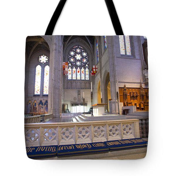 Grace Cathedral Altar Tote Bag by David Bearden