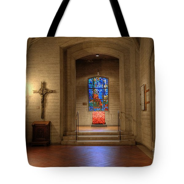 Grace Cathedral Side Altar Tote Bag by David Bearden