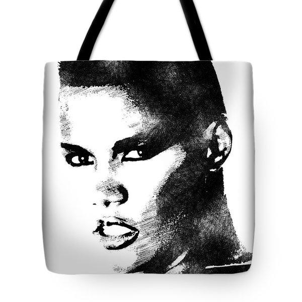 Grace Jones Bw Portrait Tote Bag