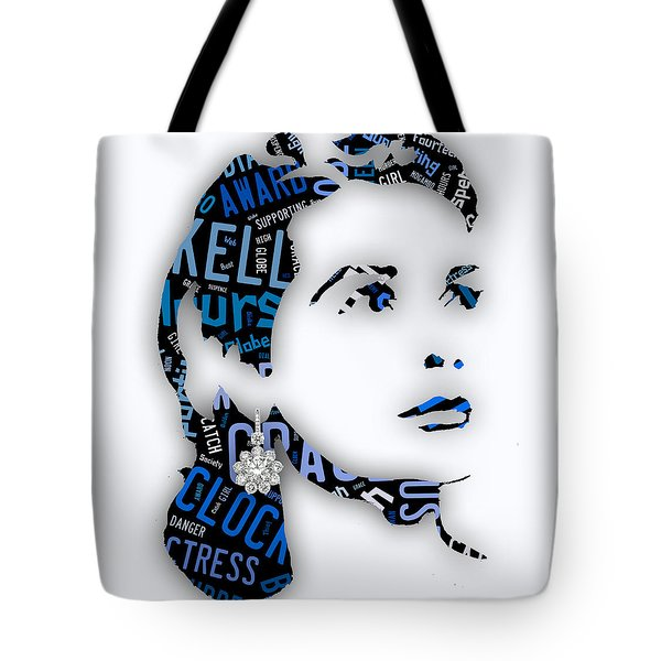 Grace Kelly Movies In Words Tote Bag