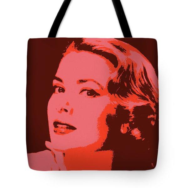 Grace Kelly Pop Art Tote Bag by Dan Sproul
