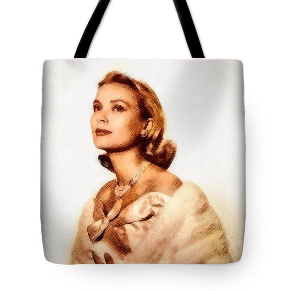 Grace Kelly, Vintage Actress By John Springfield Tote Bag