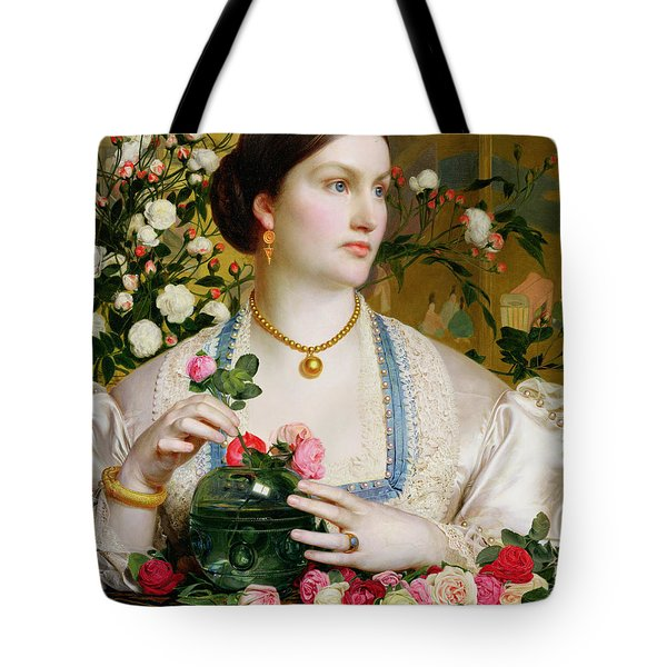Grace Rose Tote Bag by Anthony Frederick Augustus Sandys