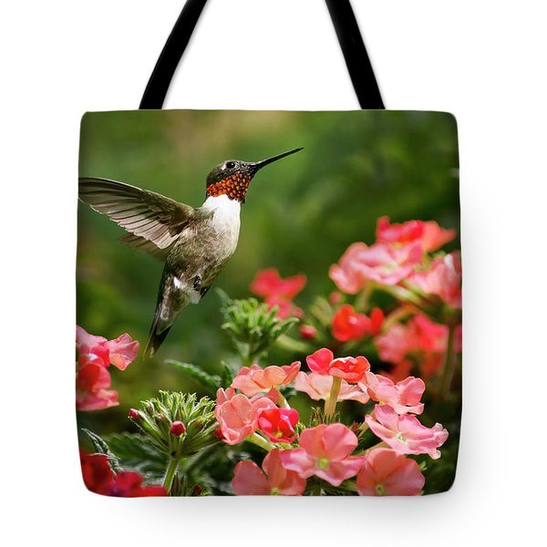 Graceful Garden Jewel Tote Bag