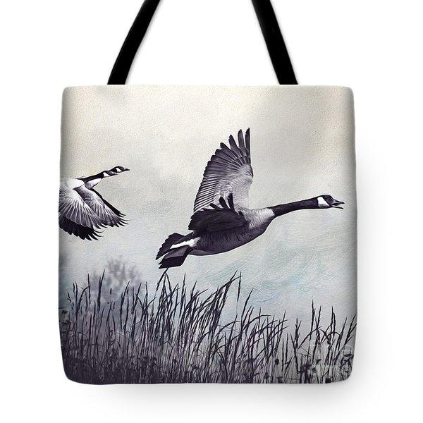 Graceful Geese Tote Bag