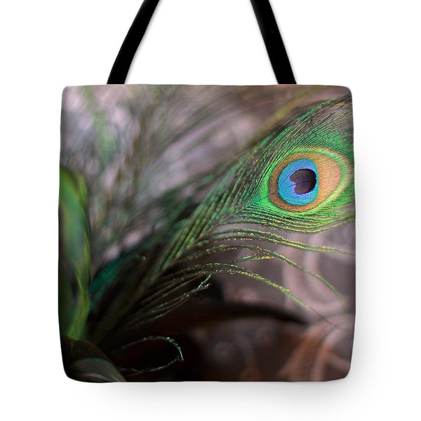 Graceful Peacock Feather Tote Bag
