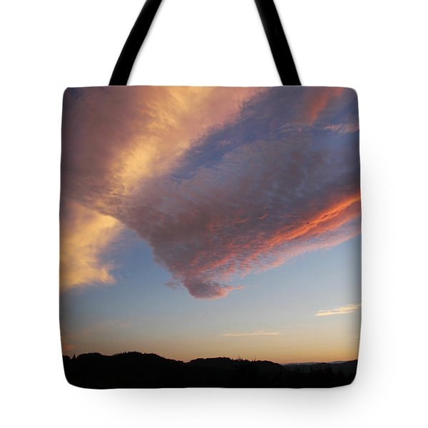 Graceful Pink Clouds Tote Bag by Katie Wing Vigil
