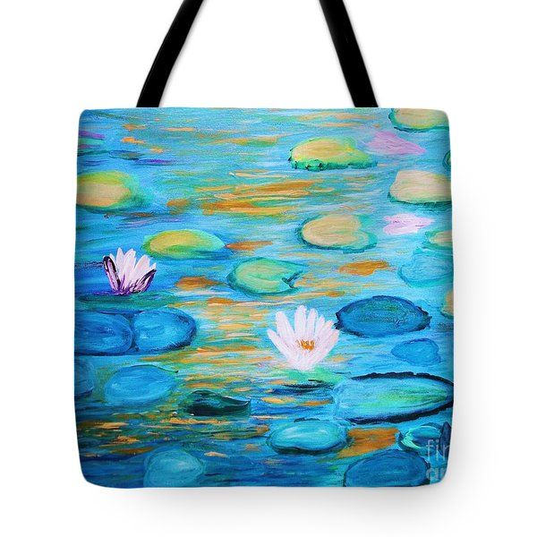 Graceful Pond From The Water Series Tote Bag