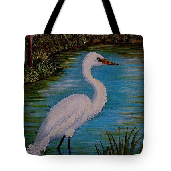 Gracefully Waiting Tote Bag