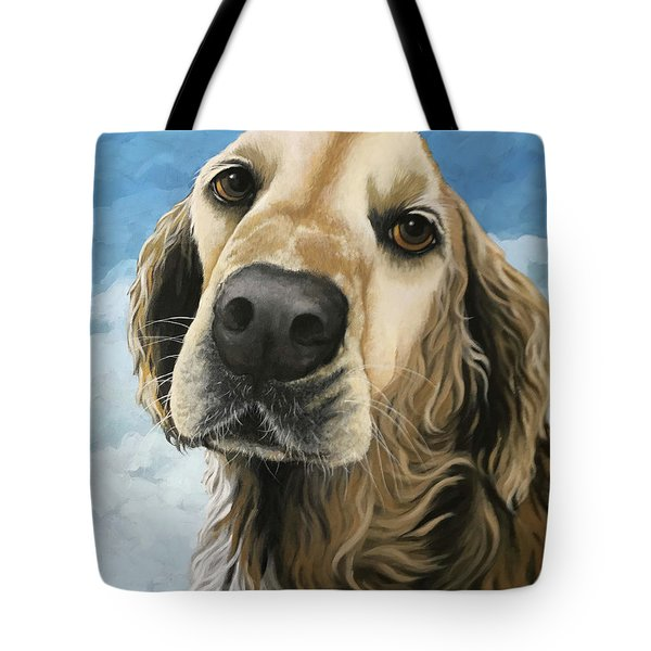 Gracie - Golden Retriever Dog Portrait Tote Bag