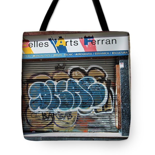 Graffiti Barcelona La Rambia Iv  Tote Bag