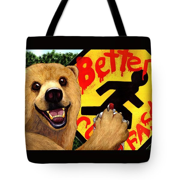 Graffiti Bear Tote Bag