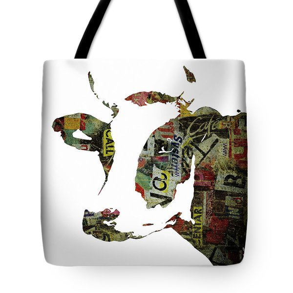 Graffiti Cow Abstract Modern Painting Pop Art Prints Poster  Robert Erod  Tote Bag