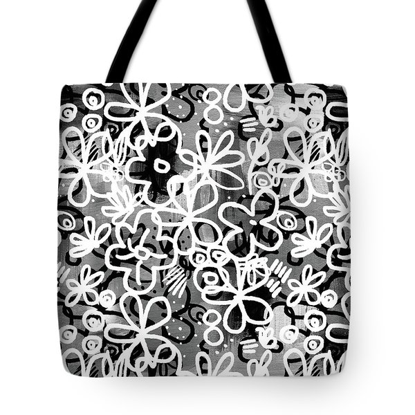 Tote Bag featuring the mixed media Graffiti Garden - Art By Linda Woods by Linda Woods