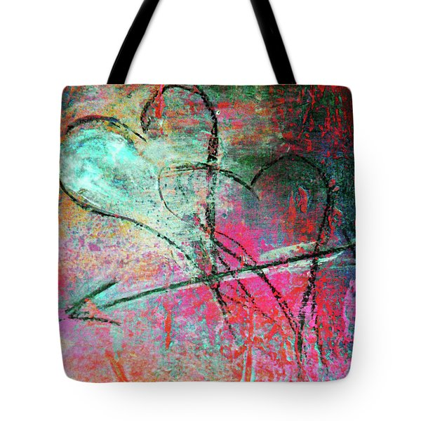 Graffiti Hearts Tote Bag by Anahi DeCanio